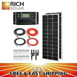 Rich Solar 200 Watts 12 Volts Mono Kit Solaire Avec 30amp Pwm Contrôleur De Charge