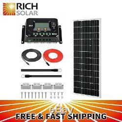 Riche Solar 100 Watts 12 Volts Monocristallins Solaire Starter Kit