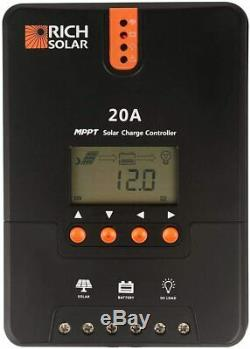 Riche Solar 200 Watt 12 Volt Kit Solaire Monocristalline
