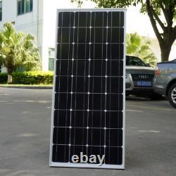 Rv 240watt Mono Solar Panels Kit + 20a Contrôleur Solaire Pour Rv Boat Caravan Accueil