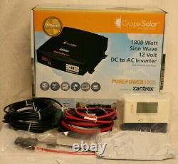 Solaire De Raisin 600w Kit Solaire Hors-grid 1800-watt Sortie Continue Ac Pas De Panneaux