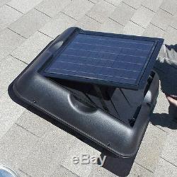 Solaire Royal Grenier Fan, 30 Watt, 1700 Cfm, Vent, Monocristallins Énergie Solaire