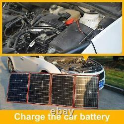Solar Panel 200 Watt Station Portable Foldable Highest Efficiency Controller Kit