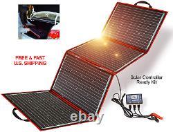 Solar Panel 300 Watt Station Portable Foldable Highest Efficiency Controller Kit