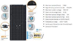Solarrack Van / Rv Empreinte Kit De Toit À Quatre Panneaux Solaires De 2 Panneaux (600 Watts)