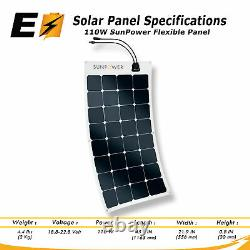 Sunpower 110 Watt Mono Solar Panel Fonctionne Très Bien Pour Yachts/boat