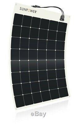Sunpower 170 Watt Panneau Solaire Flexible. Haute Efficacité Pour La Marine, Rv, Camping