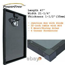 Superback 100w 100 Watt Mono-cristallin Solar Panel + $10 Mount For 12v Batterie