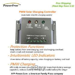 Superblack 100w 100 Watts Monocristallins Mono Panneau Solaire Kit Pour Batterie 12v