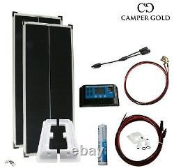 Système Complet Solaire De 200 Watt Pour Camper, Caravane Et Mobile Home Solar