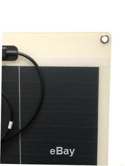• Voir 100 Watt 12v Flexible Monocristallins Panneau Solaire Chargeur De Batterie