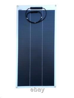 Windynation 2pcs 100 Watt 12v Flexible Monocristalline Panneau Solaire Pour Batterie